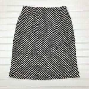 Talbots  100% Wool Herringbone Tweed Pencil Skirt